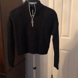 Cropped Black Forever 21 Sweater